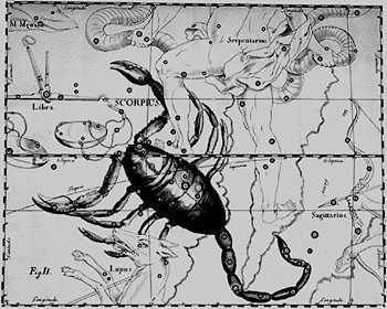 The Scorpio constellation, 1690.