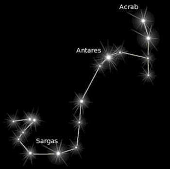 The Scorpius constellation.